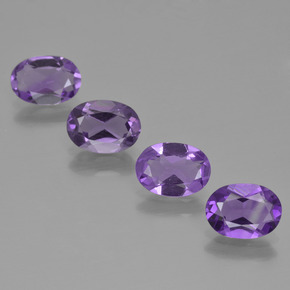 Violet Amethyst Gem - 0.6ct Oval Facet (ID: 425238)