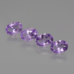 Violet Amethyst Gem - 0.7ct Oval Facet (ID: 426831)