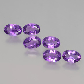Violet Amethyst Gem - 0.4ct Oval Facet (ID: 427270)
