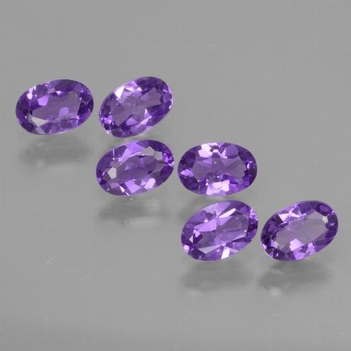 Violet Amethyst Gem - 0.4ct Oval Facet (ID: 427745)