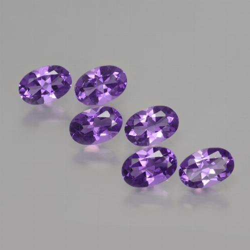 Violet Amethyst Gem - 0.4ct Oval Facet (ID: 427832)