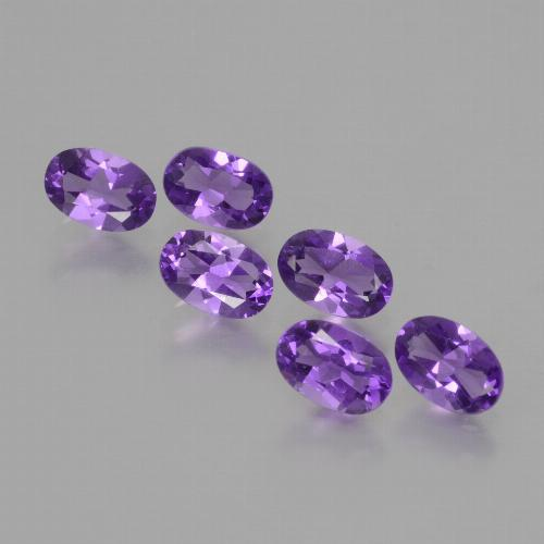 Violet Amethyst Gem - 0.4ct Oval Facet (ID: 427851)