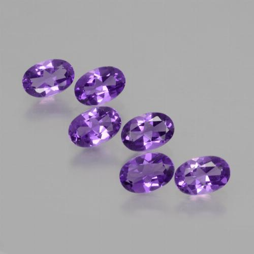 Violet Amethyst Gem - 0.4ct Oval Facet (ID: 427854)