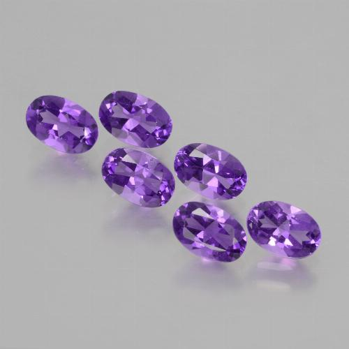 Violet Amethyst Gem - 0.4ct Oval Facet (ID: 427857)
