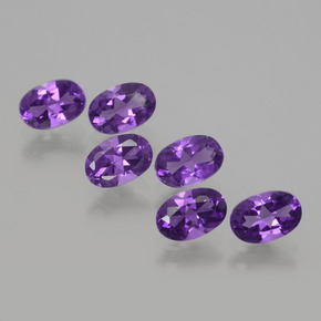 Violet Amethyst Gem - 0.4ct Oval Facet (ID: 430368)