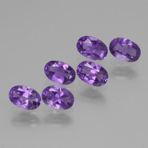Violet Amethyst Gem - 0.4ct Oval Facet (ID: 430466)