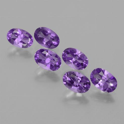 Violet Amethyst Gem - 0.4ct Oval Facet (ID: 430711)