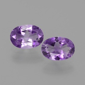 0.70 ct Oval Facet Violet Amethyst Gemstone 7.19 mm x 5.2 mm (Product ID: 434906)