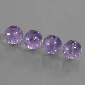 Violet Amethyst Gem - 5.6ct Drilled Sphere (ID: 434946)
