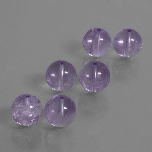 Violet Amethyst Gem - 6ct Drilled Sphere (ID: 434957)