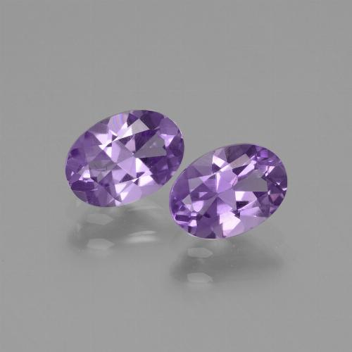Violet Amethyst Gem - 0.7ct Oval Facet (ID: 435051)