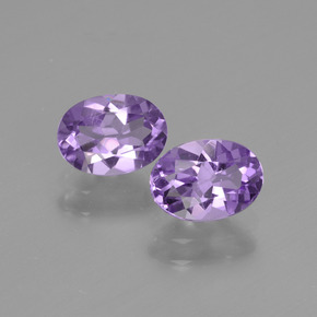 Medium Violet Amethyst Gem - 0.8ct Oval Facet (ID: 435160)