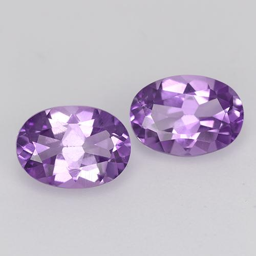 Medium Pink Violet Amethyst Gem - 0.7ct Oval Facet (ID: 435162)