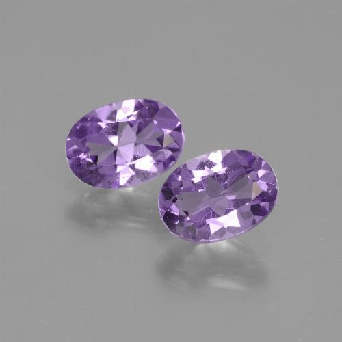 Medium Violet Amethyst Gem - 0.7ct Oval Facet (ID: 435245)