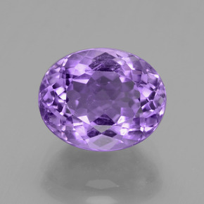 Violet Amethyst Gem - 4.2ct Oval Facet (ID: 435681)
