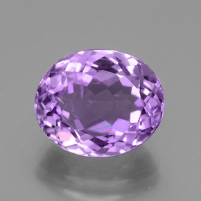 4.23 ct Oval Facet Violet Amethyst Gemstone 11.14 mm x 9.2 mm (Product ID: 436275)