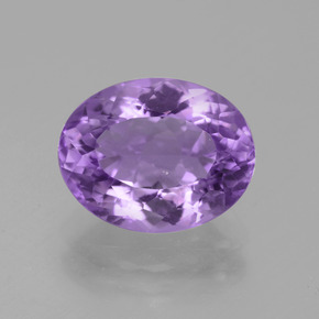 Violet Amethyst Gem - 4.5ct Oval Facet (ID: 442279)