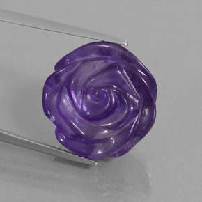 Medium Violet Amatista Gema - 17.9ct Flor tallada (ID: 446323)