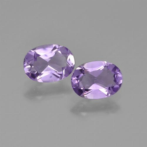 Violet Amethyst Gem - 0.7ct Oval Facet (ID: 448633)