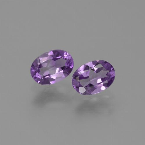 Violet Amethyst Gem - 0.7ct Oval Facet (ID: 448679)