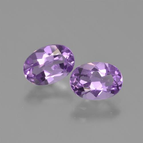 Violet Amethyst Gem - 0.7ct Oval Facet (ID: 448723)