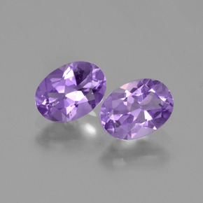 Violet Amethyst Gem - 0.7ct Oval Facet (ID: 448774)