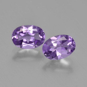 Violet Amethyst Gem - 0.7ct Oval Facet (ID: 448780)