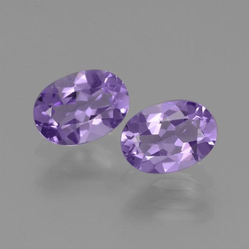 Violet Amethyst Gem - 0.7ct Oval Facet (ID: 448869)