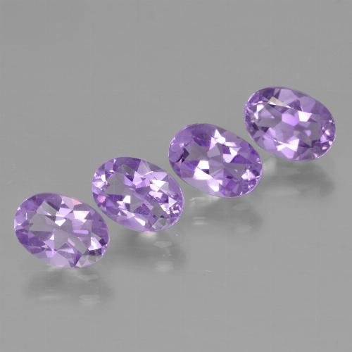Medium Violet Amatista Gema - 0.7ct Forma ovalada (ID: 448967)