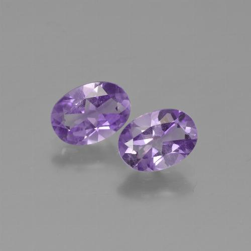 Violet Amethyst Gem - 0.7ct Oval Facet (ID: 449012)