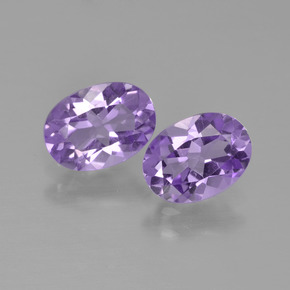 Violet Amethyst Gem - 0.7ct Oval Facet (ID: 449153)