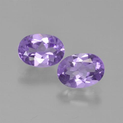 Deep Violet Hue Amethyst Gem - 0.7ct Oval Facet (ID: 449219)