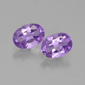Medium Violet Amethyst Gem - 0.7ct Oval Facet (ID: 449221)