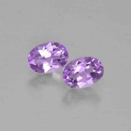 0.7ct Oval Facet Violet Amethyst Gem (ID: 449314)