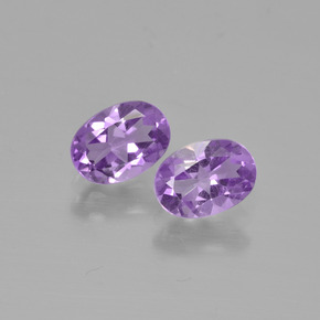 Violet Amethyst Gem - 0.7ct Oval Facet (ID: 449316)