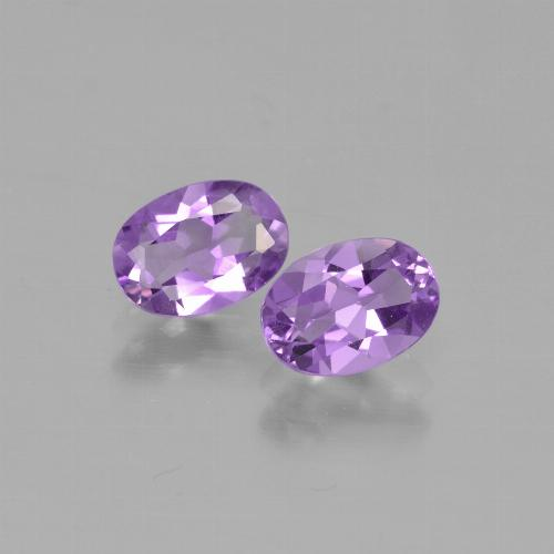 Pinkish Violet Amethyst Gem - 0.7ct Oval Facet (ID: 449317)