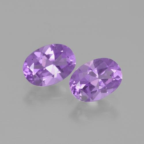 Pinkish Violet Amethyst Gem - 0.7ct Oval Facet (ID: 449363)