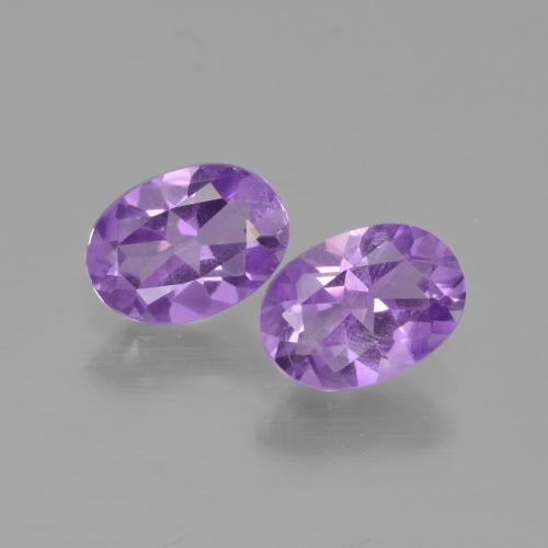 Medium Violet Amethyst Gem - 0.7ct Oval Facet (ID: 449365)