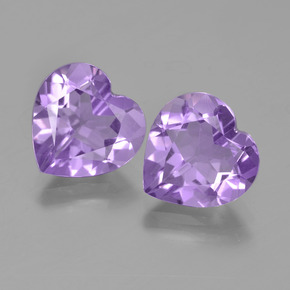 Pinkish Violet Amethyst Gem - 3ct Heart Facet (ID: 454703)