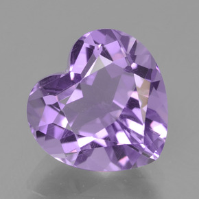 Violet Amethyst Gem - 3.4ct Heart Facet (ID: 455097)
