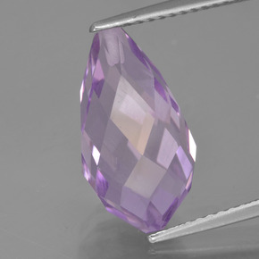 Medium Purplish Violet Amatista Gema - 6.5ct Biolette medio perforado (ID: 457070)