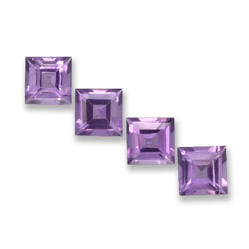 Violet Amethyst Gem - 0.9ct Square Step-Cut (ID: 457950)