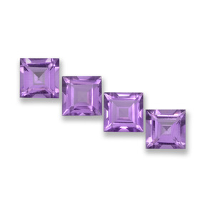 Medium Violet Ametista Gem - 1ct Taglio graduale quadrato (ID: 457952)