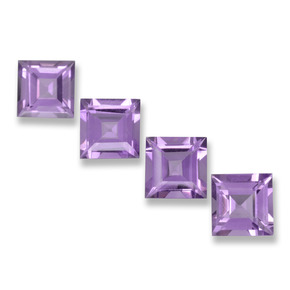 Violet Amethyst Gem - 0.9ct Square Step-Cut (ID: 458118)