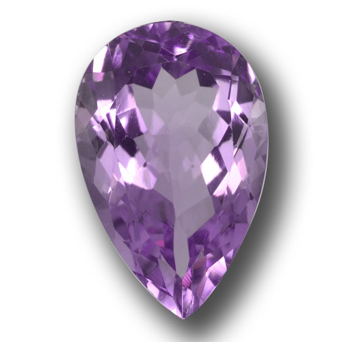 Deep Purplish Violet Améthyste gemme - 5.4ct Poire facette (ID: 458438)