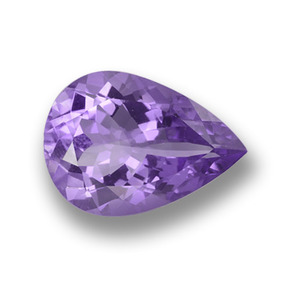 Violet Amethyst Gem - 8.2ct Pear Facet (ID: 458509)