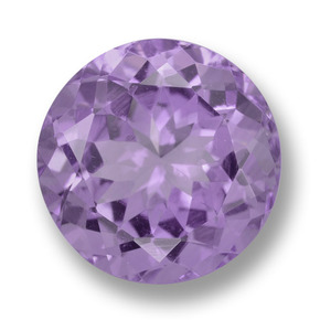 Medium Violet Amethyst Gem - 5.5ct Round Facet (ID: 459695)