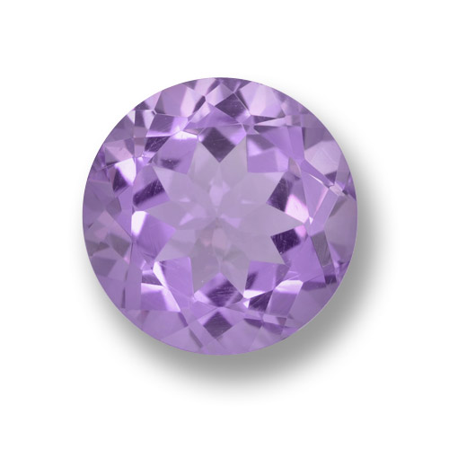 Medium Violet Amethyst Gem - 4ct Round Facet (ID: 459732)