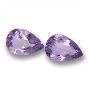 Medium-Light Purplish Violet Amethyst Gem - 3.1ct Pear Facet (ID: 460219)