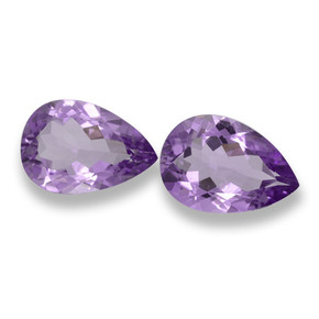 Purplish Violet Amethyst Gem - 3.2ct Pear Facet (ID: 460519)
